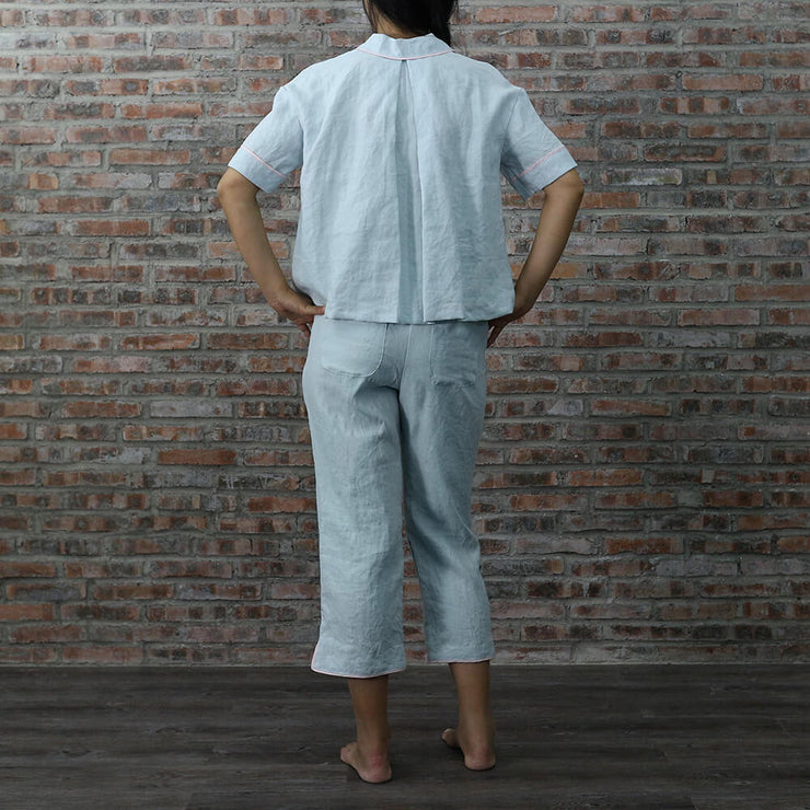 Back View Megan Pajamas Set - Linenshed