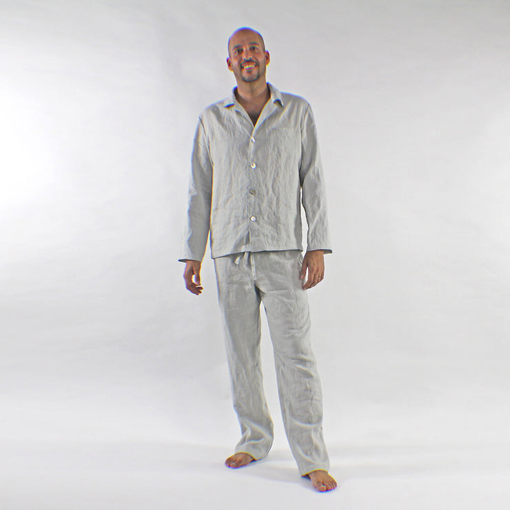 Mens Linen Pajama Pants with Drawstring