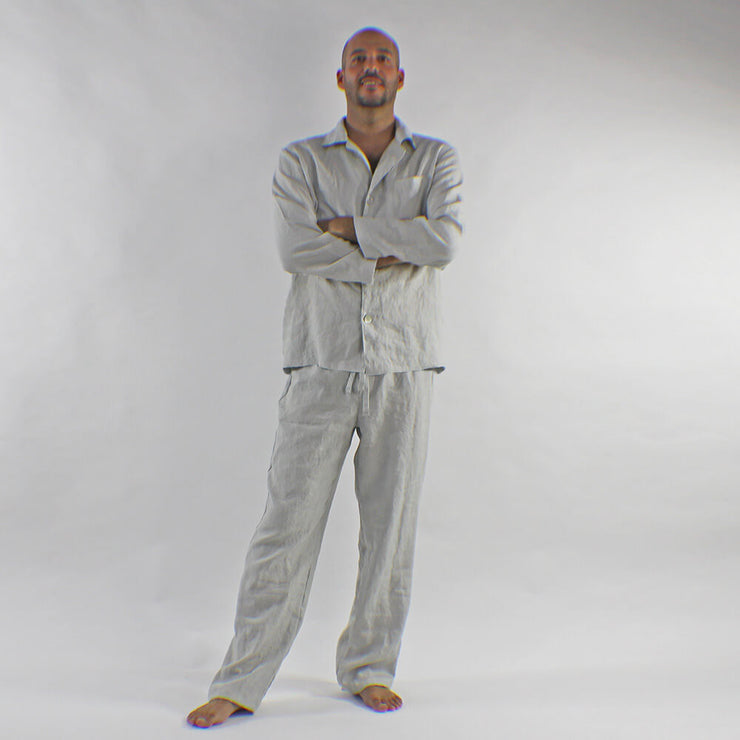 Mens Linen Pajamas Set