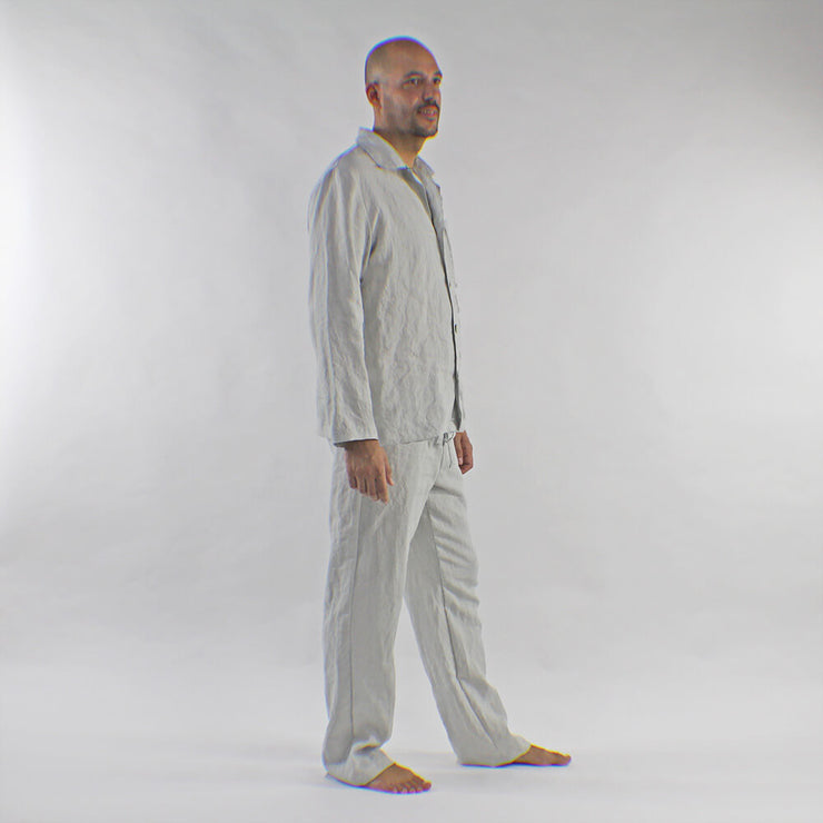 Classic Linen Pajamas Set For Mens