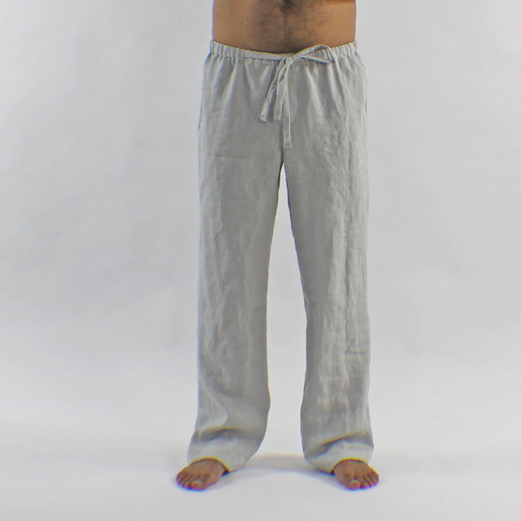 Mens Linen Pajamas Pants With Drawstring