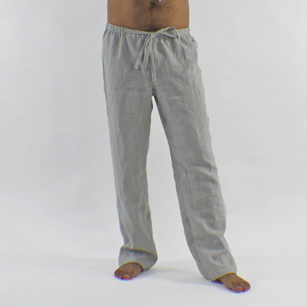 Mens Linen Pajama Pants Drawstring Trousers Linenshed