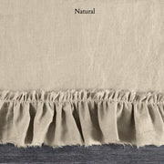 Duvet Cover with Frayed Ruffles Natural