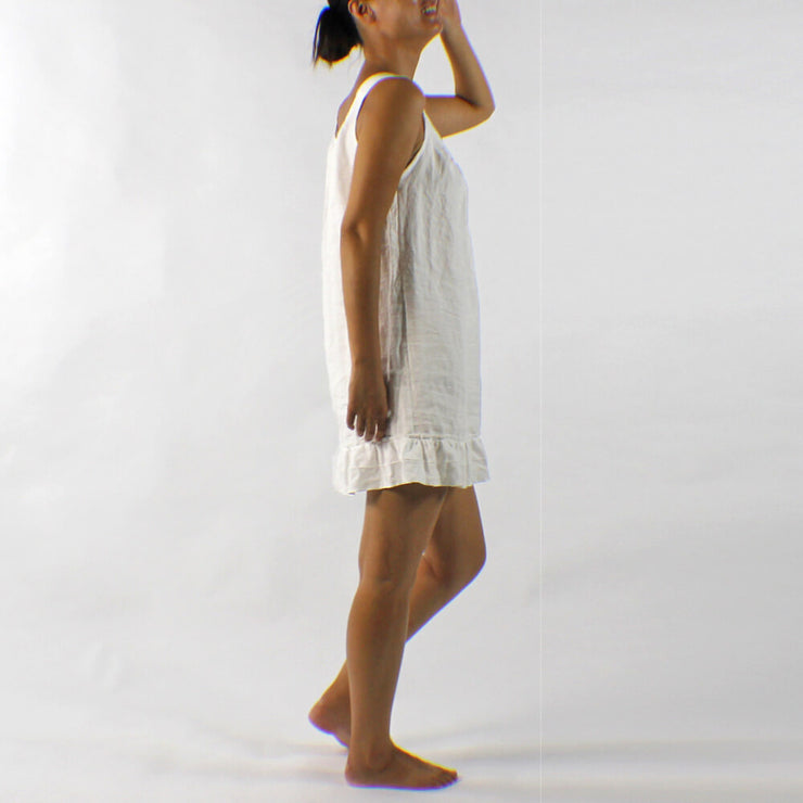White Linen Sleeping Dress