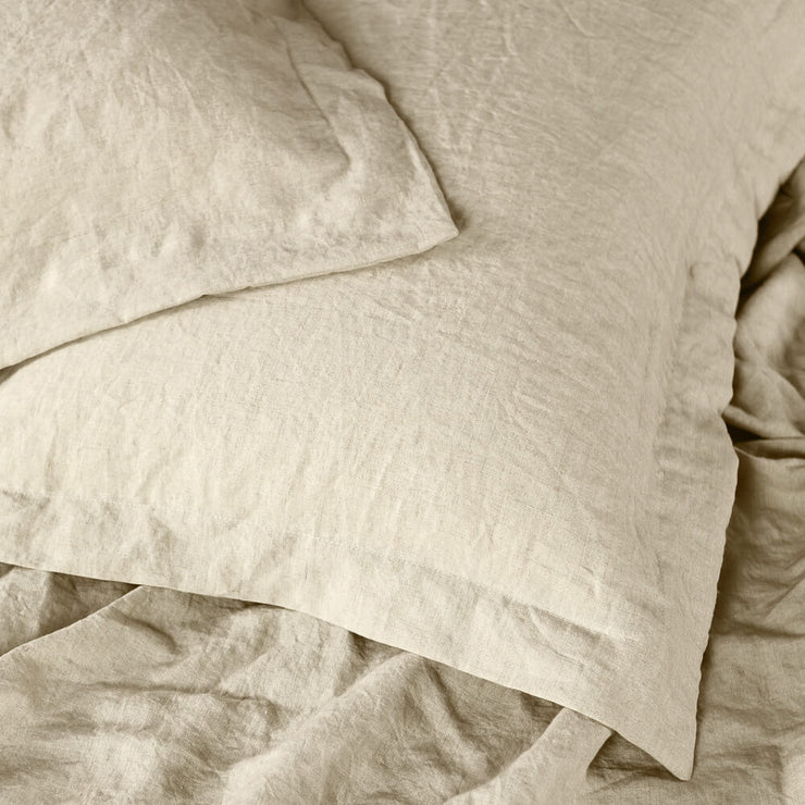 Oxford Pillow Cases In Natural Linen