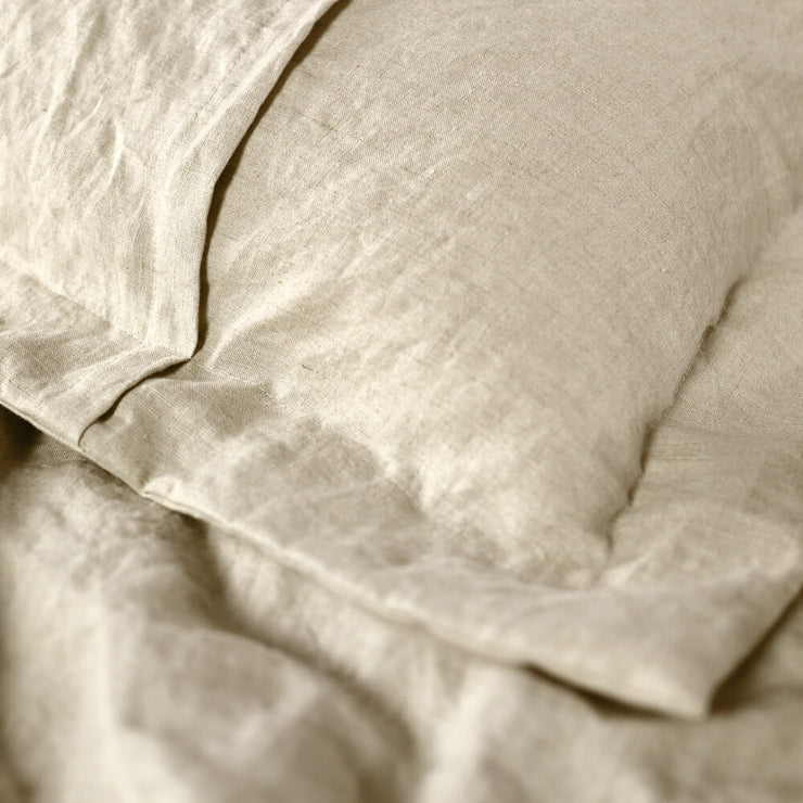 Flanged Border Linen Shams