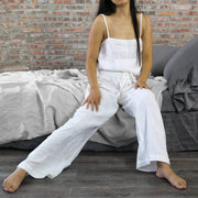 """Joan"" Natural Linen Pajamas Trousers for Women"