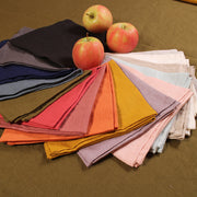 100% Pure Washed French Linen plain Table Napkins - Linenshed