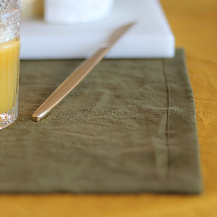 Mitered Corners Linen Placemats Sets - Linenshed
