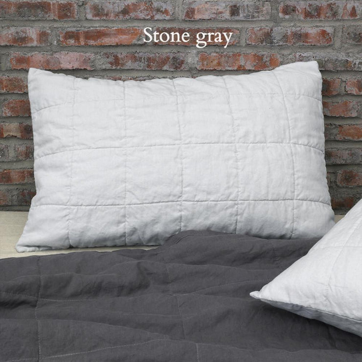 Standard Quilted Pillowcase Stone Grey