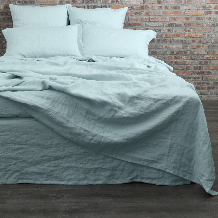 Washed Linen Flat Sheet with Matching Pillowcases - Linenshed