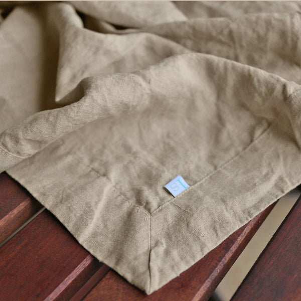 Rustic Tablecloth Table Linen Made With Natural Linen