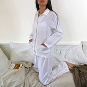 White Natural Linen Pyjama Set
