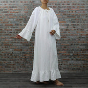 Full Length Washed Linen Raglan Nightdress