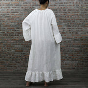 Back Detail Of Raglan Linen Night Dress