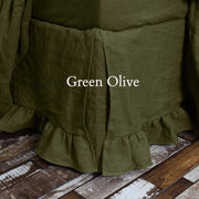 Ruffled Bedskirt Green Olive