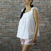 Hip Length Baby Doll Linen Tunic