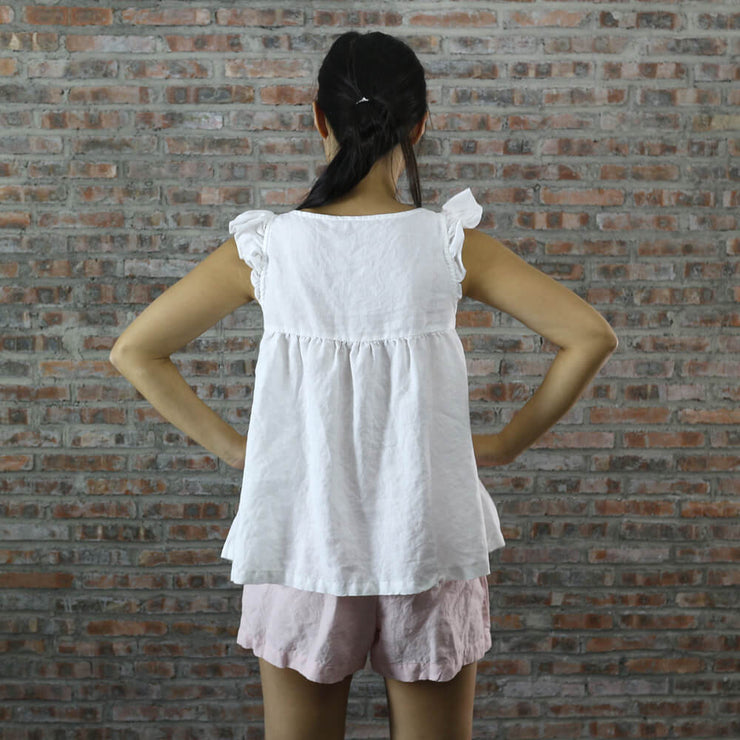 Back Detail Of Baby Doll Top