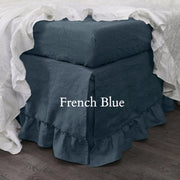 Ruffled Bedskirt French Blue