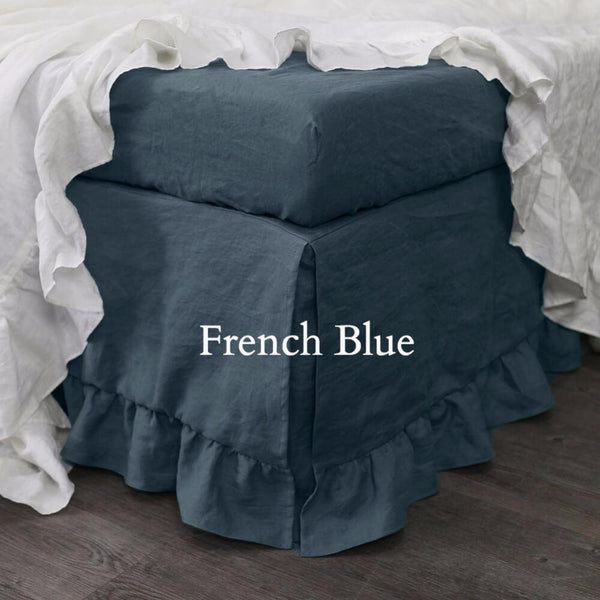Pure Linen Ruffled Bedskirt