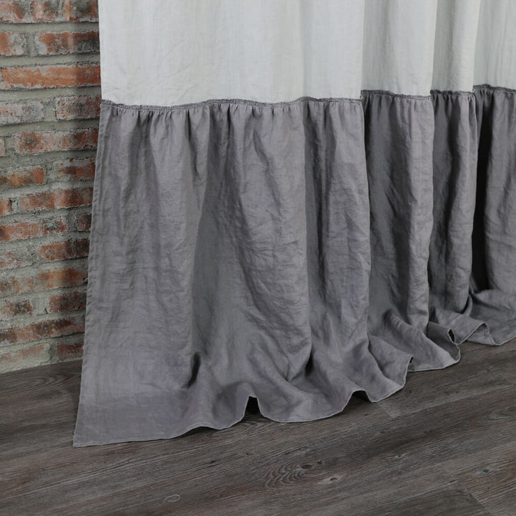 Ruffles Custom Made Linen Curtain