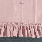 Duvet Cover with Frayed Ruffles Salmon