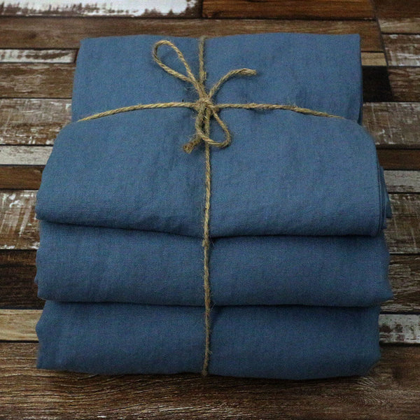 100 % Linen Sheets Set French Blue - Linenshed