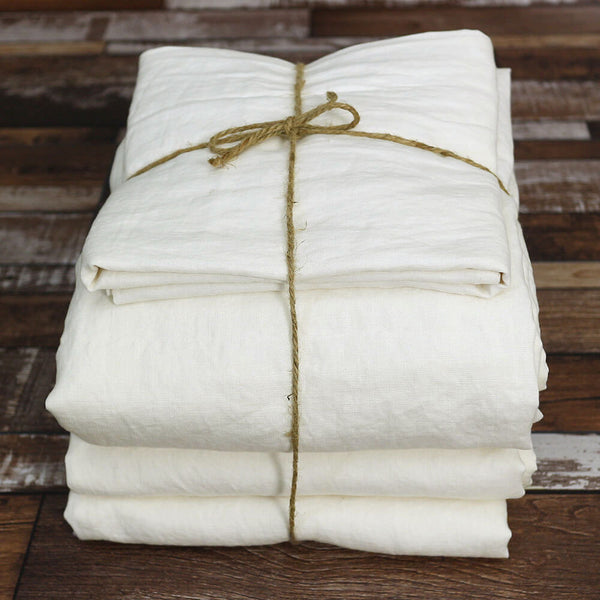 Sheets Set in Ivory - Linenshed