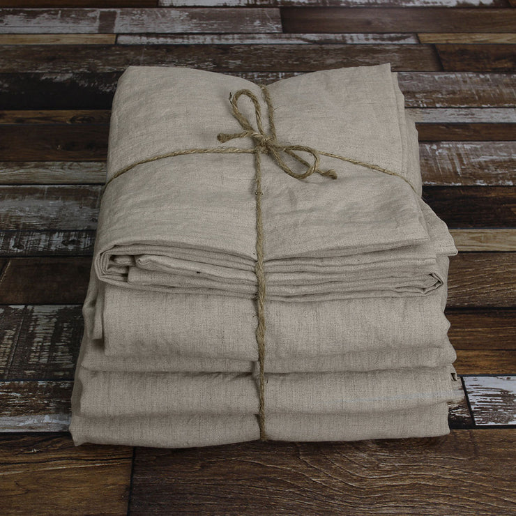 100 % Linen Sheets Set Natural Undyed - Linenshed