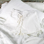 Soft Washed Linen Shorts Optic White