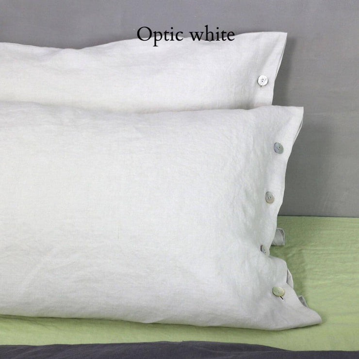 Side Buttoned Pillowcases set Chalk