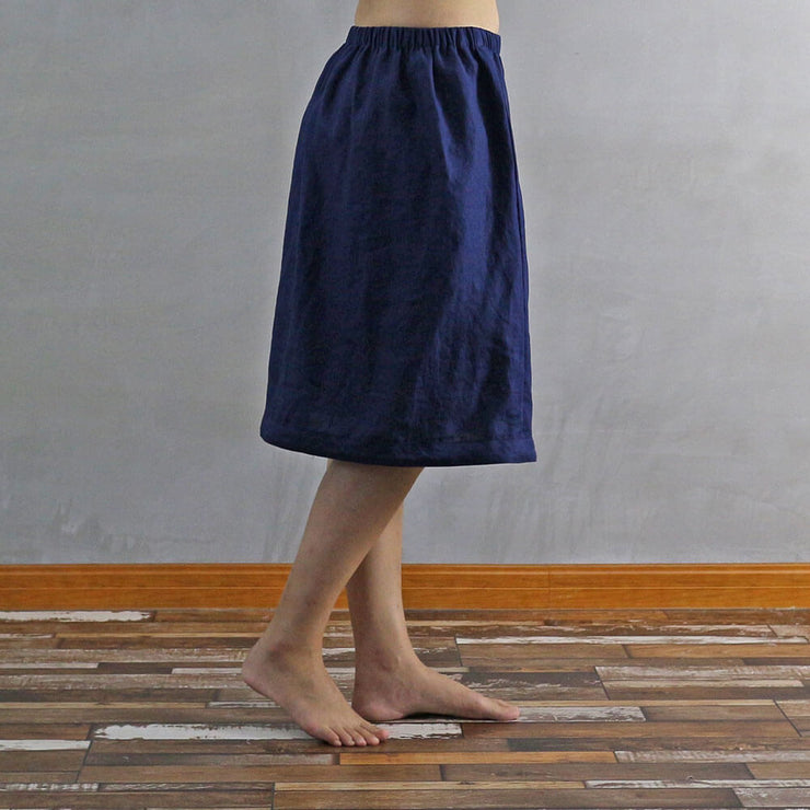 Side Buttoned Skirt 02 - Linenshed