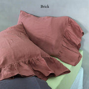 Side-Ruffle-Pillowcases-Set-Brick