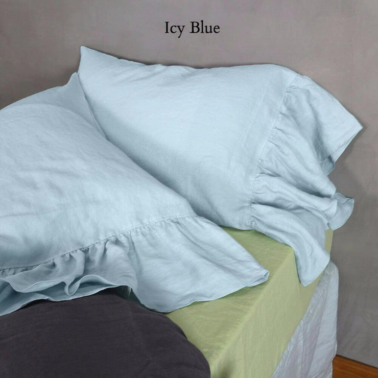 Side-Ruffle-Pillowcases-Set-Icy-Blue