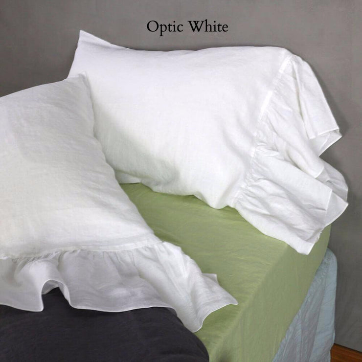 Side-Ruffle-Pillowcases-Set-Optic-White