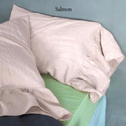 Side-Ruffle-Pillowcases-Set-Salmon
