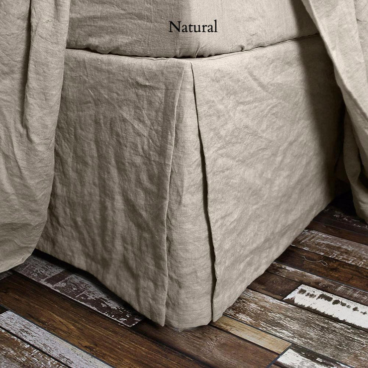 Split-Corner Linen Bed Skirt