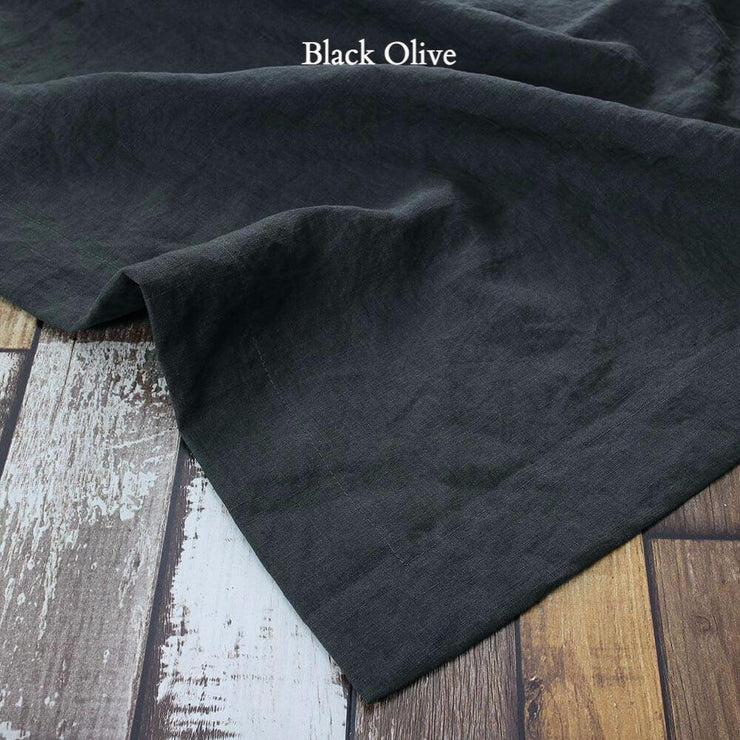 Rustic Linen TableCloth Black Olive