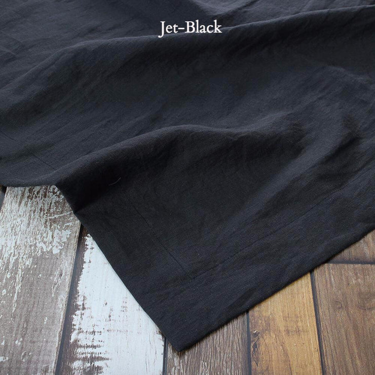 Rustic Linen TableCloth Jet-Black