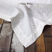 Rustic Linen TableCloth Optic White