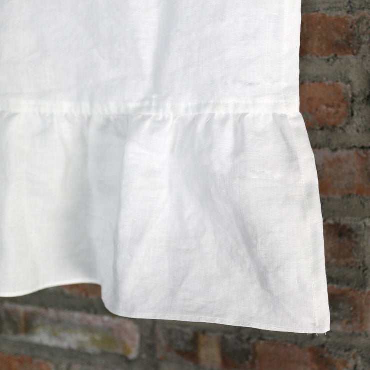 Washed Linen Ruffles Table Runner