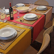Mitered border 100% Linen Table Runner