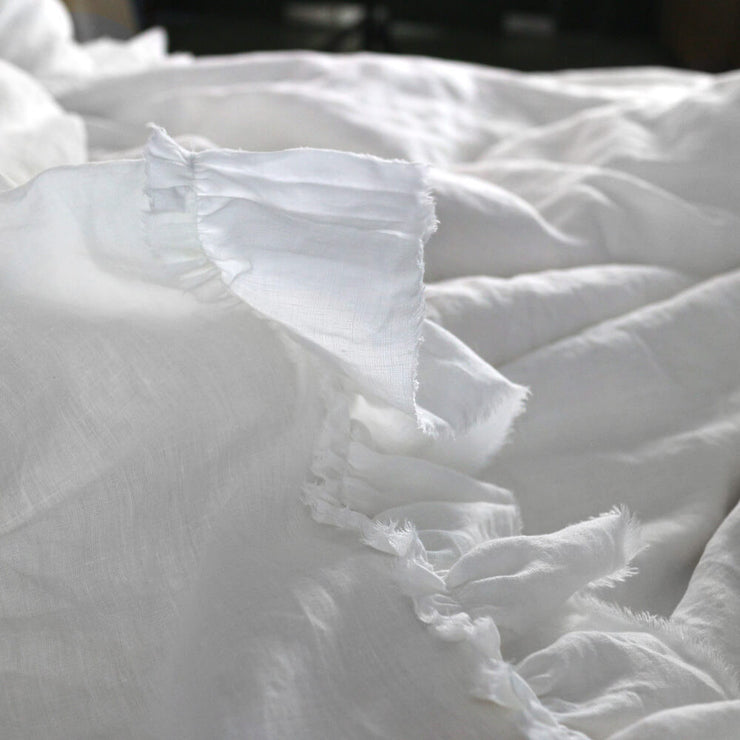 Pure Linen Romantic Duvet Cover