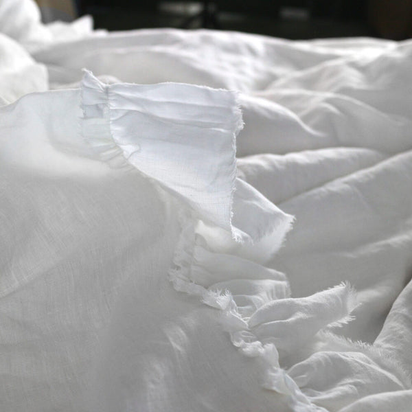 Quot Shabby Chic Quot Frayed Ruffles Duvet Cover Romantic Casual