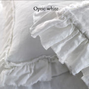 Pure Linen Romantic Pillowcases set with Frayed Edges