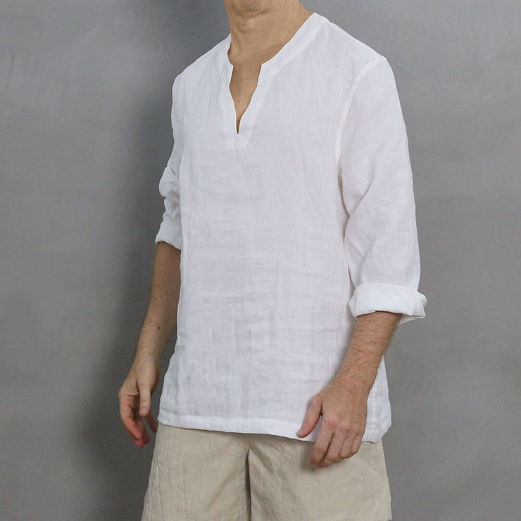 Men's Linen Full-sleeved Tunic 6 - LINENSHED