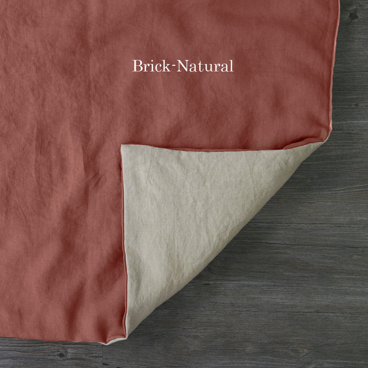 Two Tones Duvet Cover Brick-Natural