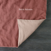 Two Tones Duvet Cover Brick-Salmon