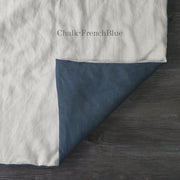 Two Tones Duvet Cover Chalk-French Blue