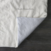 Two Tones Duvet Cover Chalk-Stone Gray